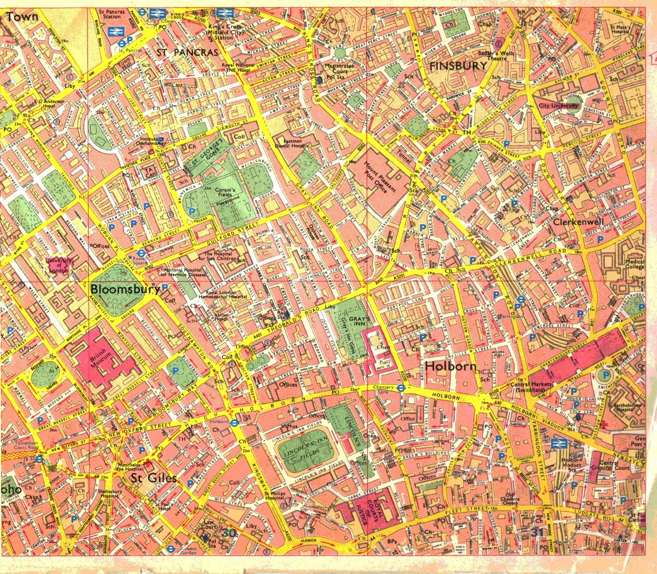 Map Soho London.Soho
